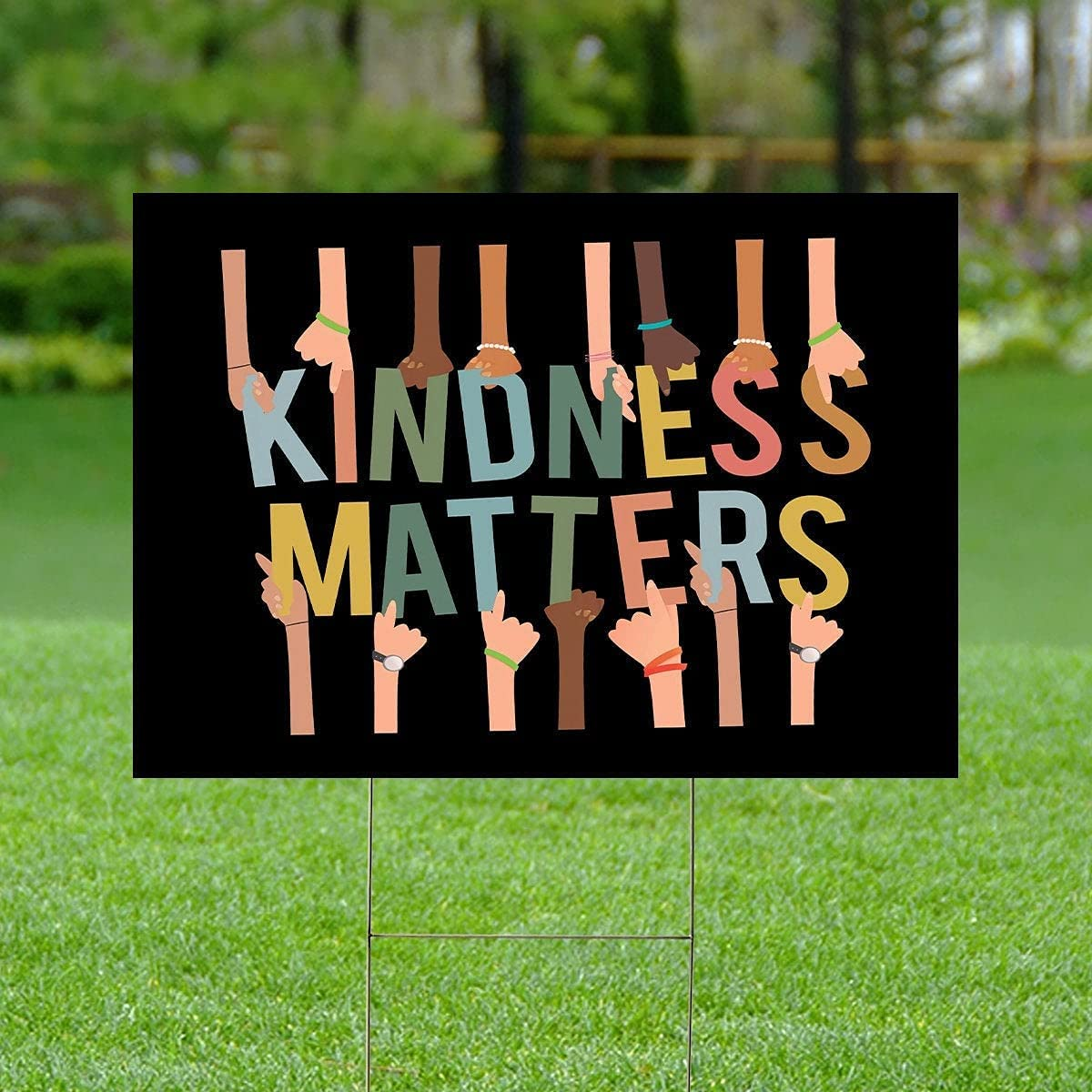 High Max 89% OFF order Kindness Matters Double Sided Yard Be Spread Kind Sign