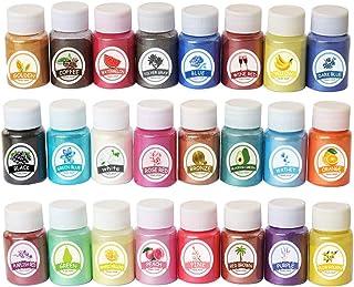 Cosmetisch poeder in 24 kleuren, parelmoer natuurlijk Mica-mineraal epoxyhars parel pigment doe-het-zelf sieraden ambachte...