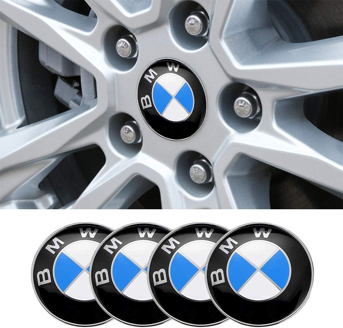 Chuangzhi Sales 4 x 56.5mm Wheel Center Cap Sticker Fit Mustang Wheel Car Emblem Lettering ABS Badge Logo Stickers Fit Mustang Car Accessories