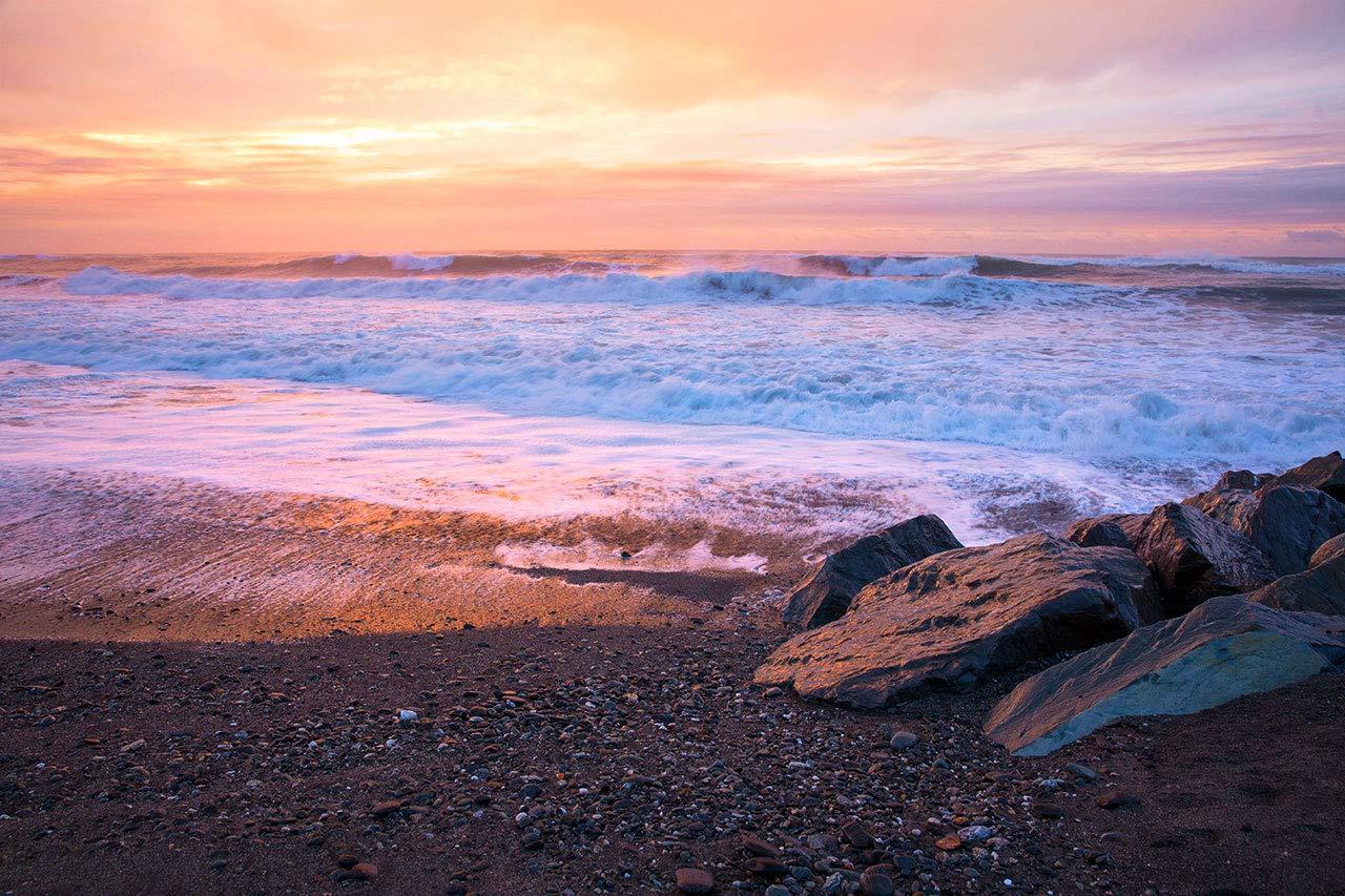 Manufacturer direct delivery Hokitika Beach Photography Serene Sunset New Columbus Mall Zeala Print Photo