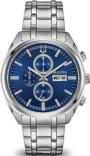 Bulova - para Hombre Reloj crongrafo de Acero Inoxidable Esfera Azul 96c136