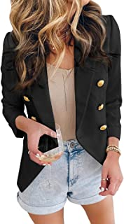 Women Blazers Casual Jackets Long Sleeve Ruched Work...