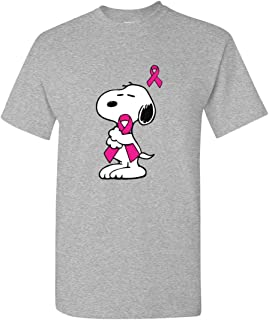 Support breast cancer Snoopy T-Shirt