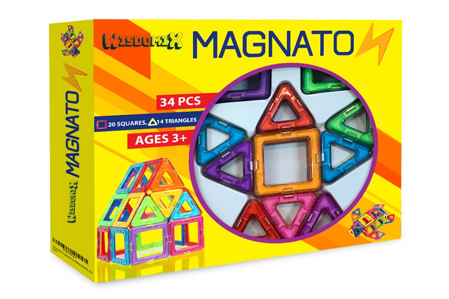 WISDOMIX MAGNATON Magnetic Building Blocks Magnet Tiles Set Kids Toys for Girls and Boys Educational and  sc 1 st  Amazon.com & 2 Year Old Boy Gift Ideas: Amazon.com