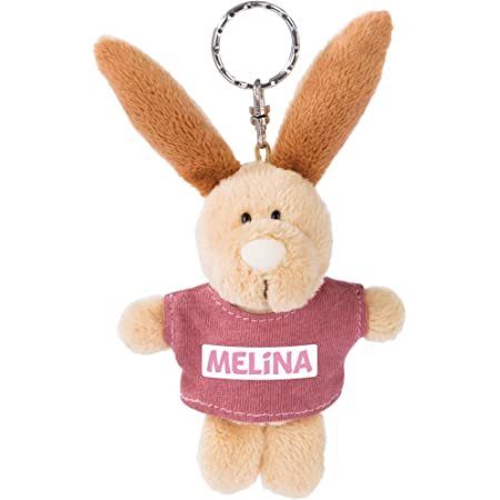 Nici 44603 Key Ring Rabbit With T Shirt Alina 10 Cm Beige Spielzeug