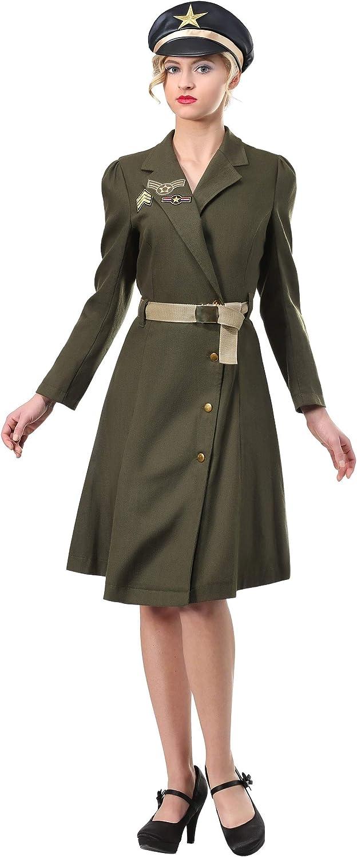 barato Wohombres Bombshell Bombshell Bombshell Military Captain Fancy Dress Costume Medium  se descuenta