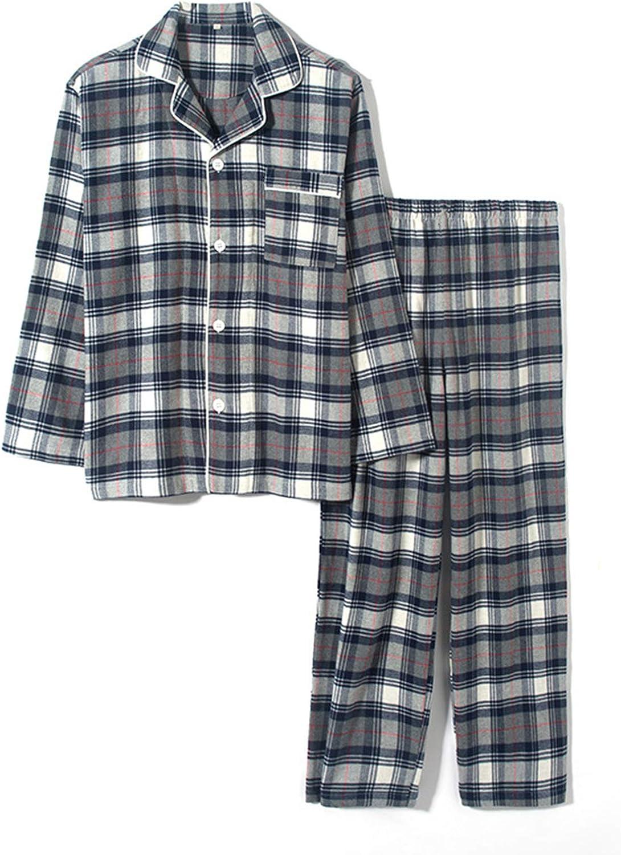 Long Button-Down Sleepwear Pajamas For Men