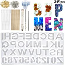 Backward DIY Casting Mold,Outgeek Reversed Number Alphabet Jewelry Casting Mold Backward Letter Jewelry Making Mold DIY Sugar Cake Craft Casting Mould Mold and Tool Set Assorted Types