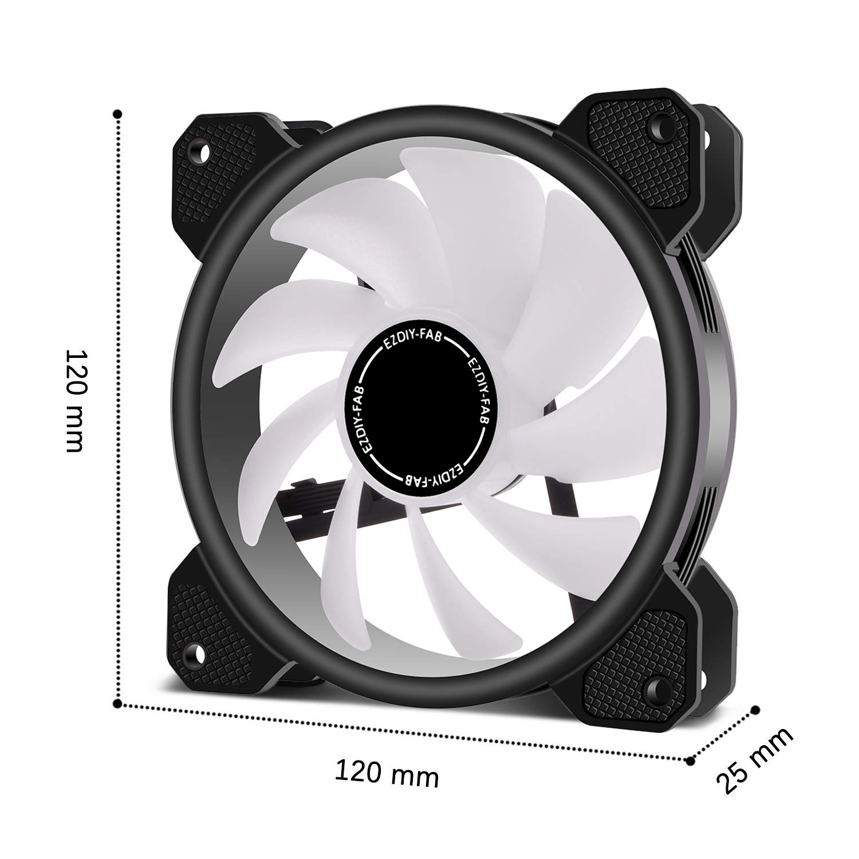 EZDIY-FAB 120mm ARGB Caso Ventilador,Placa Base Aura Sync ...