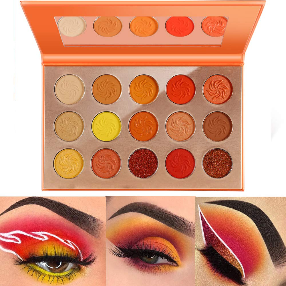 Ranking TOP15 DE'LANCI Orange Eyeshadow Palette Fall Makeup free shipping Pres Matte Shimmer