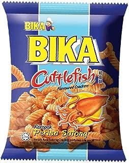 Bika Crackers Snacks x 6 Packs (628MART) (Cuttlefish Flavoured)