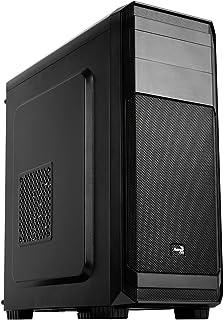 Aerocool AERO300 - Caja gaming para PC (semitorre, ATX, 7 ranuras de expansión, tarjetas gráficas alta gama, incluye ventilador trasero 12cm, 2 x USB 2.0, 1 x USB 3.0, audio HD), color negro