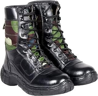Blinder Men's Black Green Long Boots