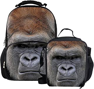 Bigcardesigns 3D Animal School Bag Backpack With Lunch bag Pencil Case