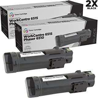 LD Compatible Toner Cartridge Replacement for Xerox Phaser 6510 & WorkCentre 6515 High Yield (Black, 2-Pack)