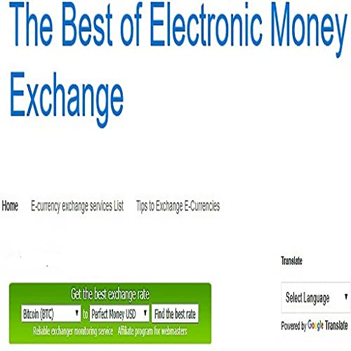 The Best of Electronic Money Exchange (for your website free)