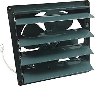 """Professional Grade Products 9800512 Metal Shutter Exhaust Fan for Garage Shed Pole Barn Hydroponic Ventilation, 10"""""""