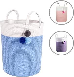 Solaya Tall Blue Storage Basket for Nursery 16