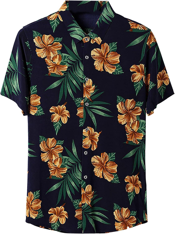 Hawaiian Shirts for Men Short Sleeve Beach Shirt PrintedSummer Casual Button Down Shirts