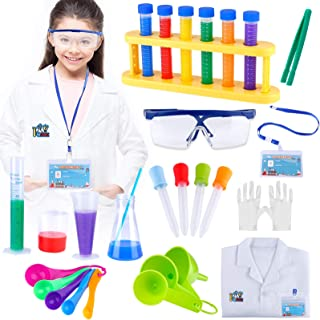 Kids Science Experiment Kit with Lab Coat, Scientist Costume Dress Up and Role Play Toys - Gift for Boys Girls Kids For Ch...