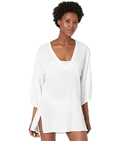 Robin Piccone Fiona Puffed Sleeve Tunic (White) Women