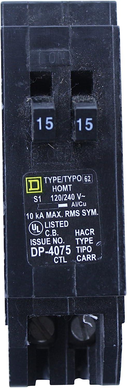 SQUARE D HOMT1515 5 ☆ very popular TYPE HOMT HOMELINE latest TANDEM 1P AMP DUPLEX 15 CIR