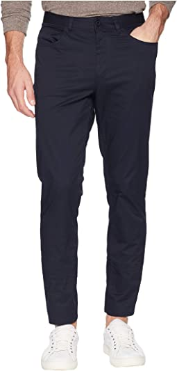 Stretch Sateen Five-Pocket Casual Pants