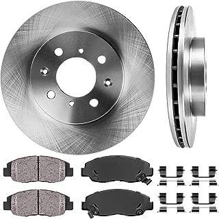 CRK11189 FRONT 262 mm Premium OE 4 Lug [2] Brake Disc Rotors + [4] Ceramic Brake Pads + Clips