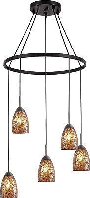 Woodbridge Lighting 13228MEB-M20AMB Chandelier, Bronze
