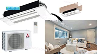 Mitsubishi 18,000 BTU 1.5 TON One Way Ceiling Cassette Single Zone System - SEER 22.3 AC & Heat Pump Ductless Ceiling Recessed Cool & Heat Energy Star