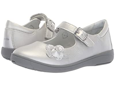Stride Rite Ava (Little Kid) (Silver Leather) Girls Shoes