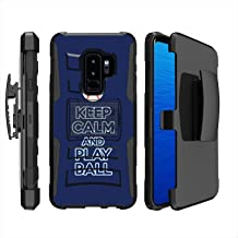 [Mobiflare] Armor Phone Case for Samsung Galaxy S9+ [Black/Black] Blitz Dual Layer Cover with Holster - [Play Ball - Tampa Bay]