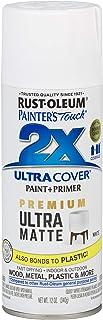 Rust-Oleum 331181 Spray Paint Painter`s Touch 2X Cover, 12 Oz, Ultra Matte White