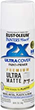 Rust-Oleum 331181 Spray Paint Painter's Touch 2X Cover, 12 Oz, Ultra Matte White