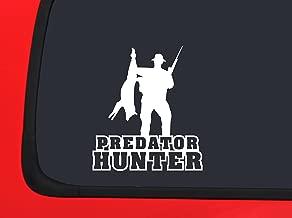 Predator Hunter with coyote and Gun - hunting window decal sticker