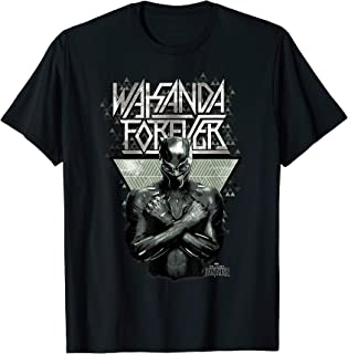 Marvel Black Panther Wakanda Forever Prism Patterned T-Shirt T-Shirt