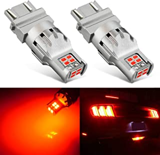 JDM ASTAR 2800 Lumens Extremely Bright 1:1 Design 3020 Chips 3056 3156 3057 3157 4057 4157 LED Bulbs, Brilliant Red