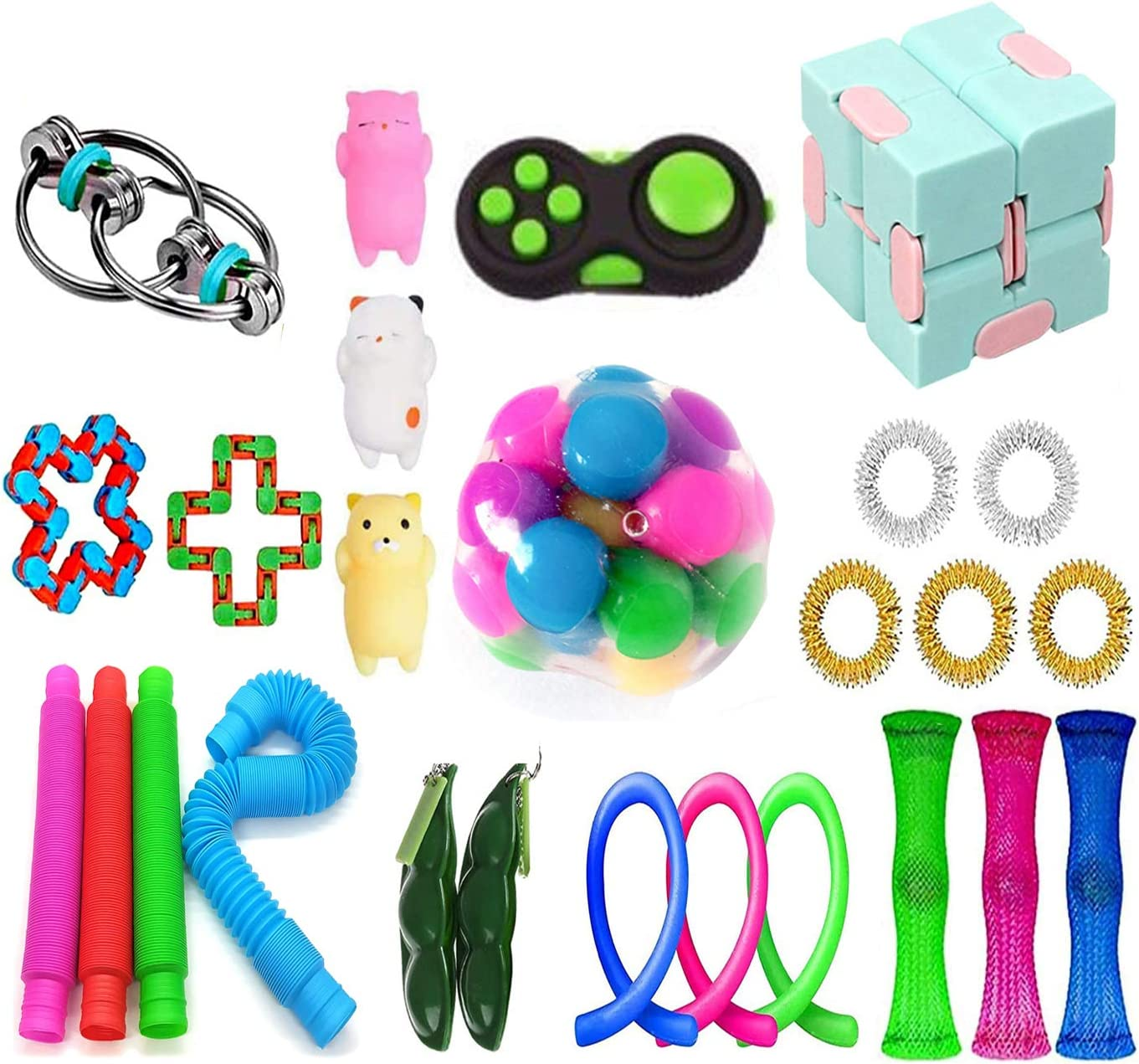 Slingshot Chicken mesh and Marble Fidget Include Simple Dimple Fidget Toy bilkoivn 14pcs Cheap Fidget Toy Pack