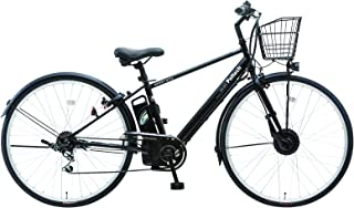 【100%完成車納品】PELTECH(ペルテック) 電動アシストクロスバイク 27インチ 外装6段 8AHバッテリー