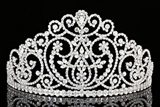 Pageant Wedding Bridal Beauty Contest Rhinestone Crystal Tiara Crown T966