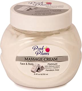 PINK PLUMS Glowing Platinum Massage Cream with Vitamin-E, 250 ml