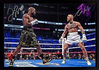 S&E DESING Conor McGregor v Floyd Mayweather Jr Las Vegas TMT UFC MMA Signed Print Framed
