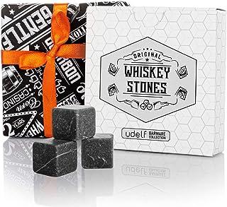12 pierres à whisky en marbre. Pierres à whisky coffret cadeau de qualité supérieure. Kit whisky pierres a whisky avec sac...