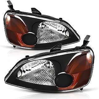 Headlight Assembly for 2001 2002 2003 Honda Civic 4-Door Sedan Driver & Passenger Side