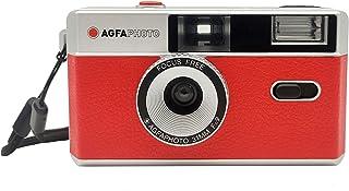AgfaPhoto Analogue 35 mm Photo Camera Red Set (Film + Battery)