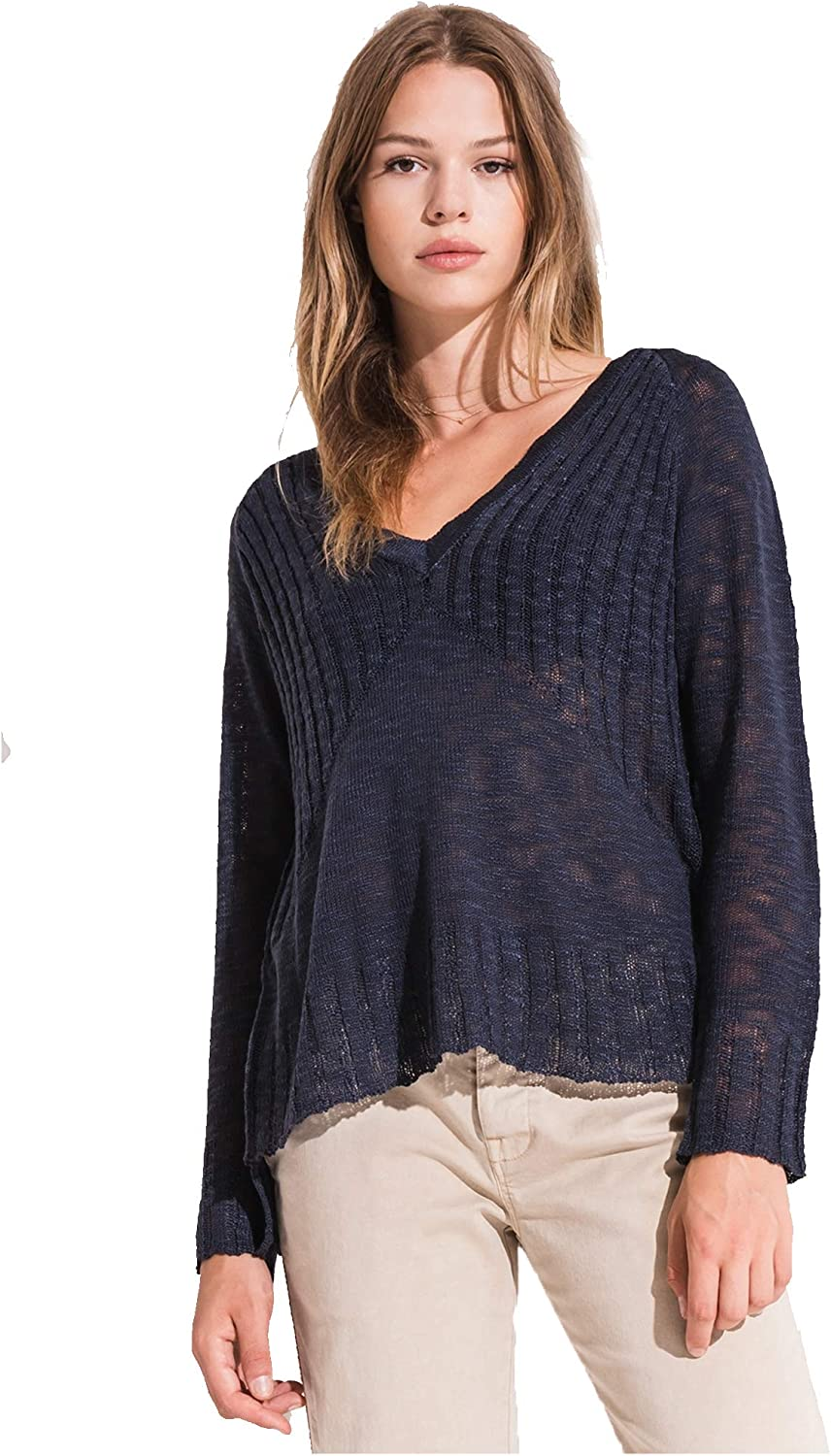 Rag Poets by Z Supply Women's Acadia Textured Knit Sweater