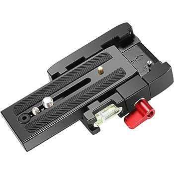 Neewer プロ アルミ合金 クイックリリースプレートアダプター 1/4 3/8インチネジ付き DSLRカメラ/ビデオカメラ/三脚/一脚に対応 互換性:Manfrotto 501HDV 503HDV 701HDV 577/519/561/Q5