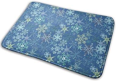 Snowflakes Colorway Carpet Non-Slip Welcome Front Doormat Entryway Carpet Washable Outdoor Indoor Mat Room Rug 15.7 X 23.6 in