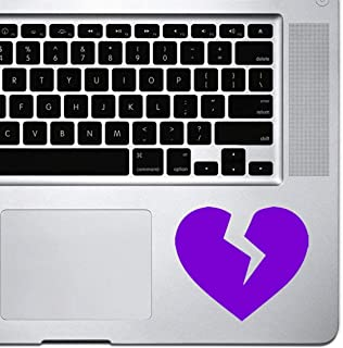 DKISEE Decal Sticker Laptop Vinyl Decal Broken Heart Icon Sticker for Macbook Pro, Chromebook, and Laptops Purple 5 inch
