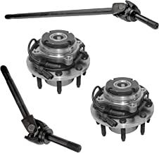 Detroit Axle - 4PC Front Axle w/U-Joint and Wheel Bearing And Hub Assembly - Fits DANA 60 4x4 Single Rear Wheel SRW Only - Coarse Hub Threads and ABS - 1994-2004 Ford F-250 F-350 Super Duty